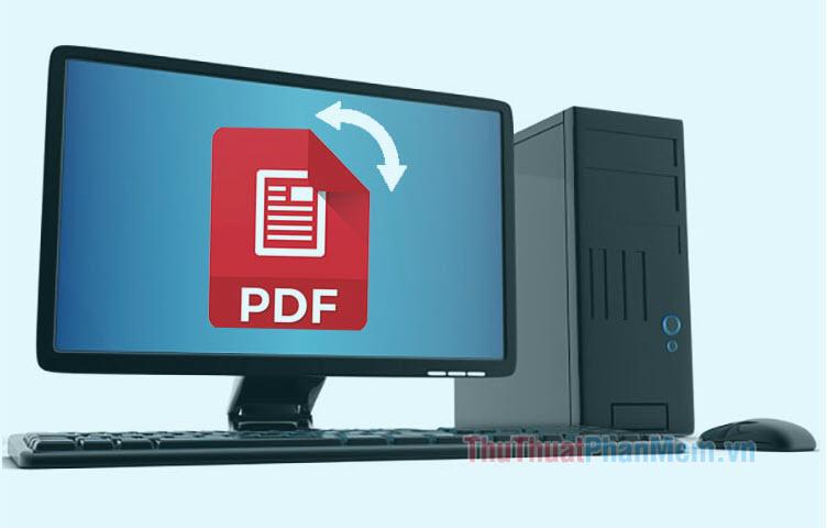 Cách xoay file PDF scan