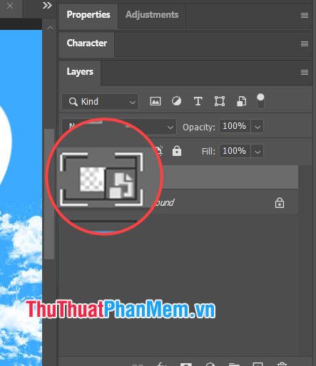 Nếu bạn thấy biểu tượng File ở trên layer như ảnhthì layer đó chính là Smart Object