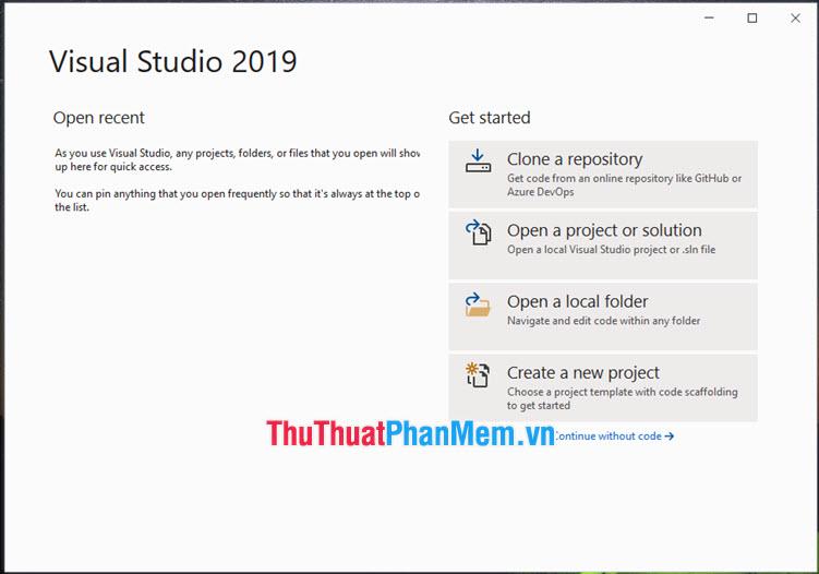 Cài đặt thành công Visual Studio offline