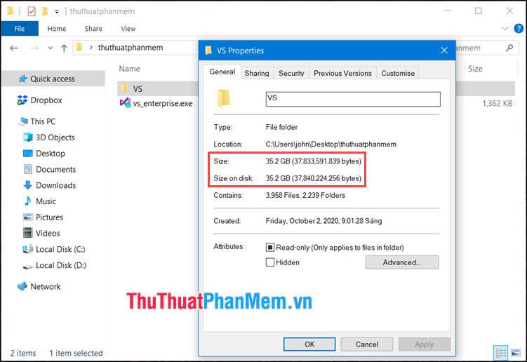 Dung lượng của bộ cài offline sau khi tải về máy sẽ nặng 35.2 GB