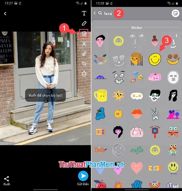 Tìm kiếm mẫu icon và chọn icon