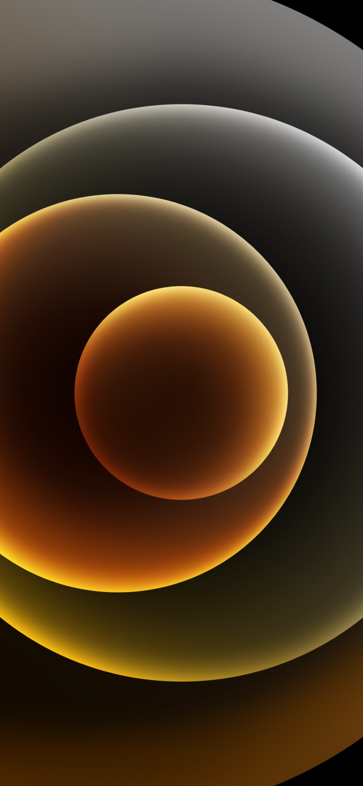Hình nền iPhone 12 vàng đen