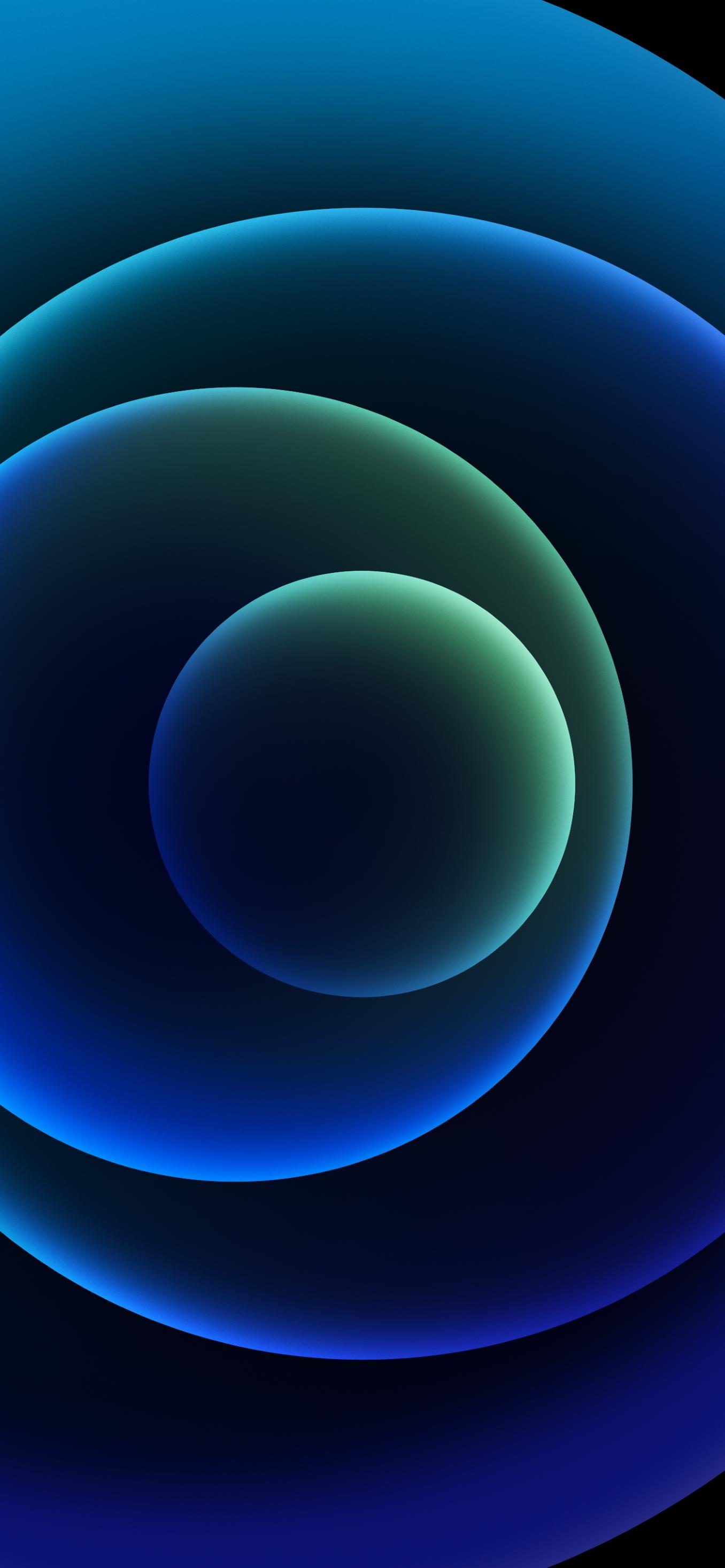 Hình nền iPhone 12 xanh biển đen