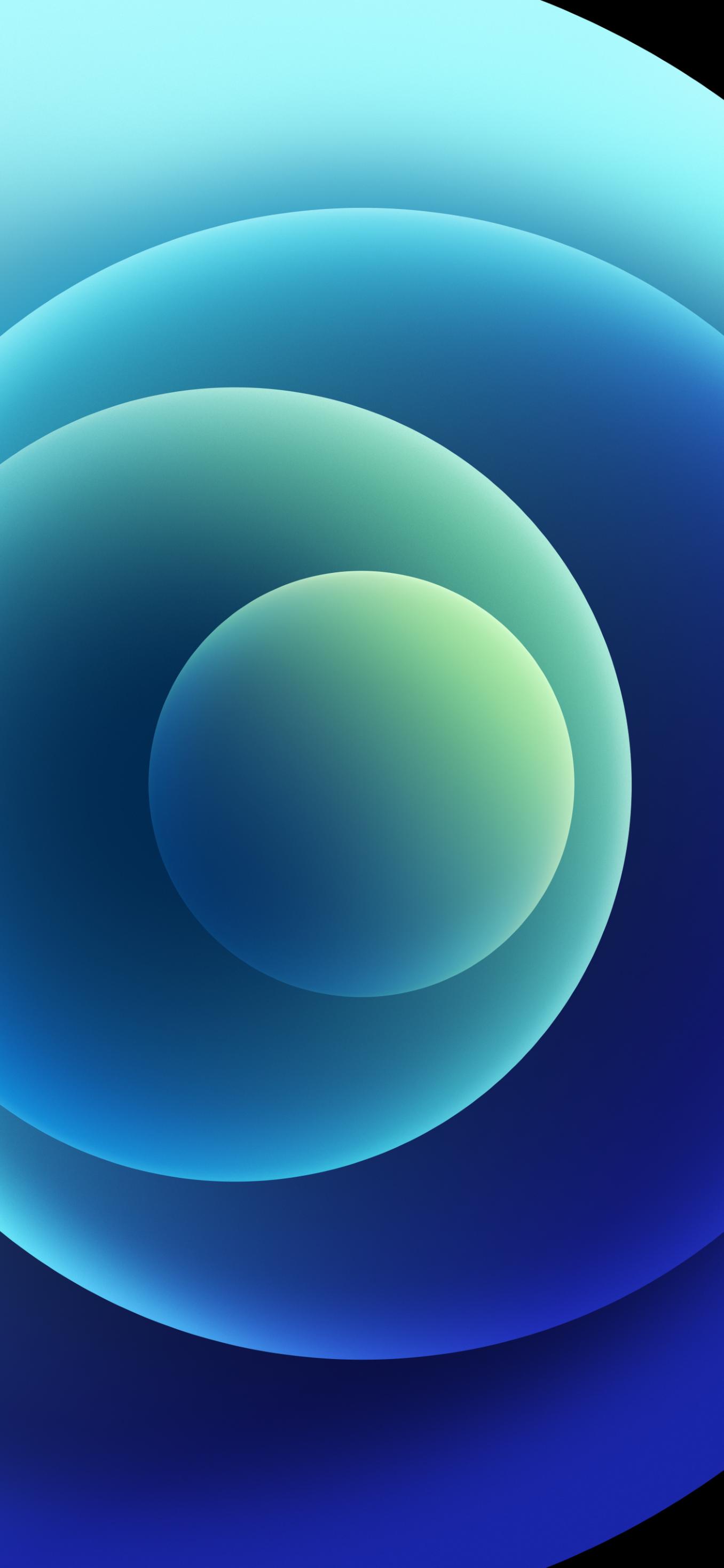 Hình nền iPhone 12 xanh biển sáng