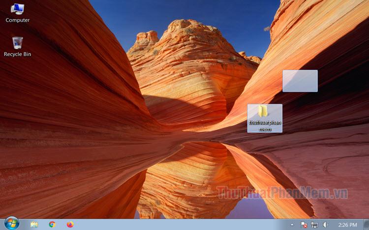 Cách ẩn, giấu thư mục trên Desktop