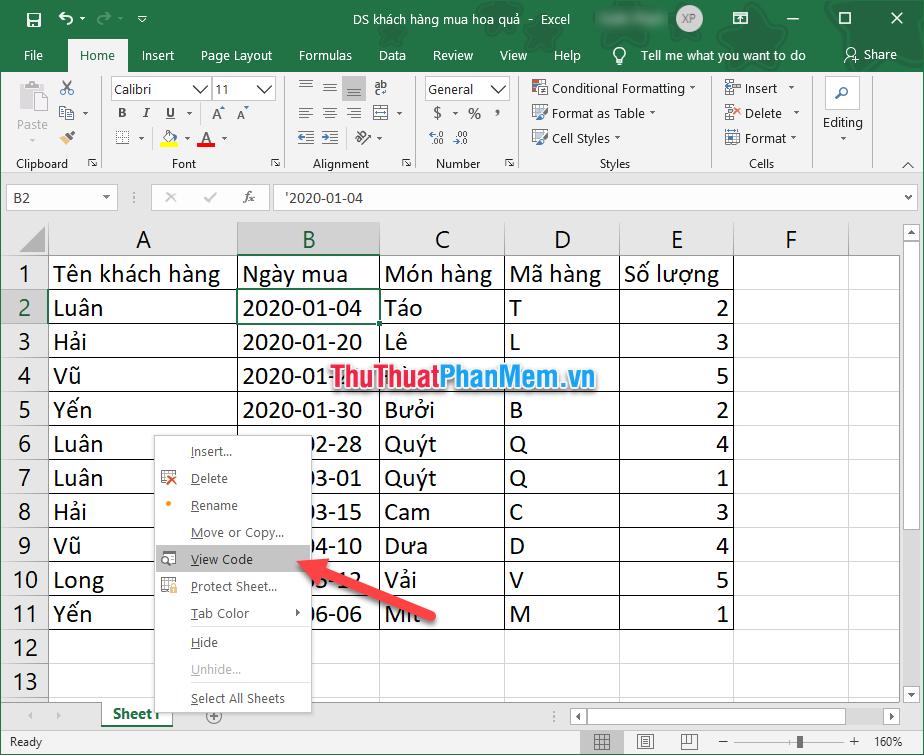 Cách giới hạn vùng làm việc trong Excel