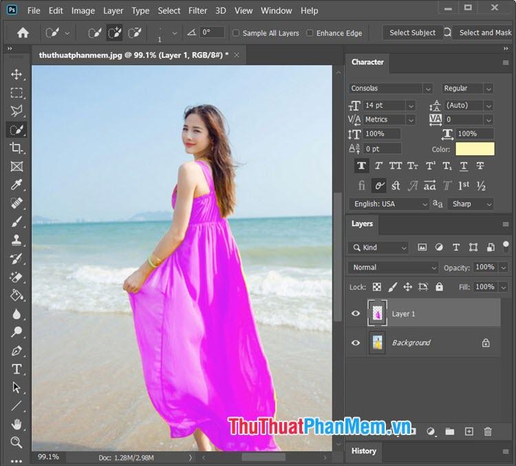 Kết quả bạn đã có bức ảnh đổi màu với Replace Color thành công