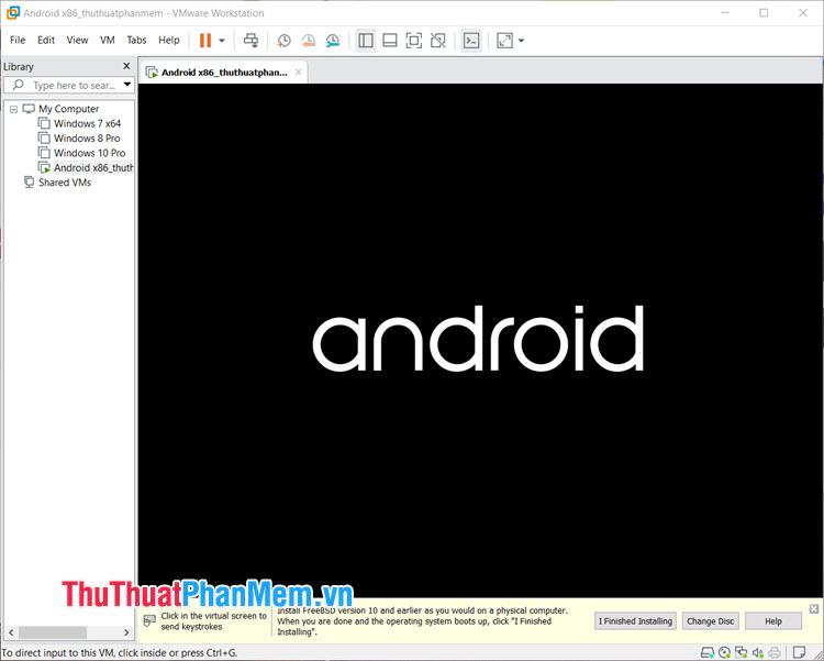 Sau khi quay lại mục trước, dòng lệnh sẽ tự chạy và bạn chờ menu boot Android xuất hiện là thành công