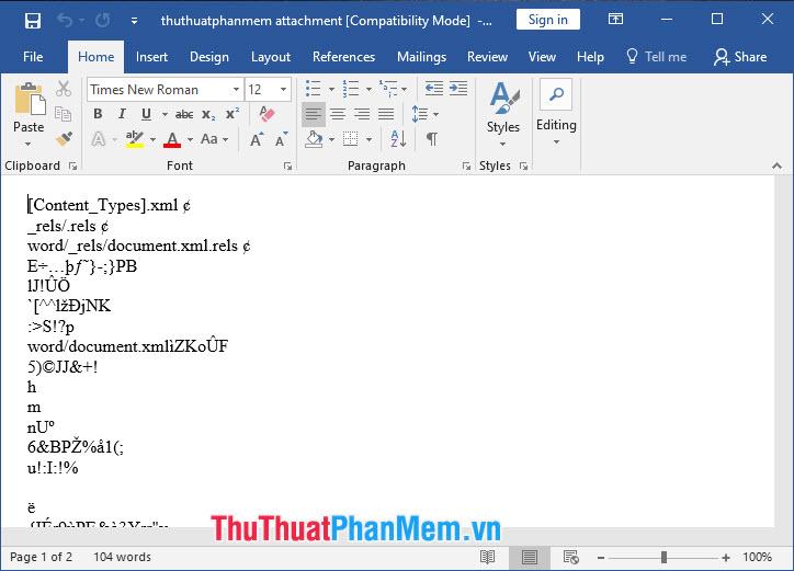 Mở khoá file word bị mã hoá khi tải file trên Internet