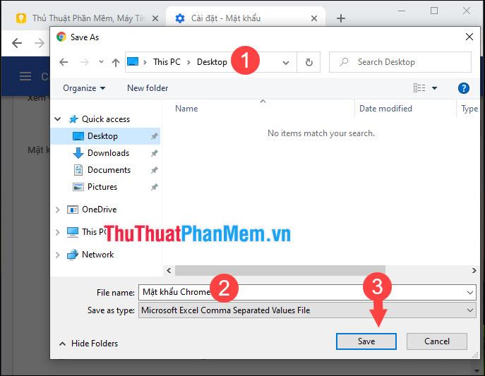 Chọn nơi lưu file, đặt tên file rồi nhấn Save để lưu