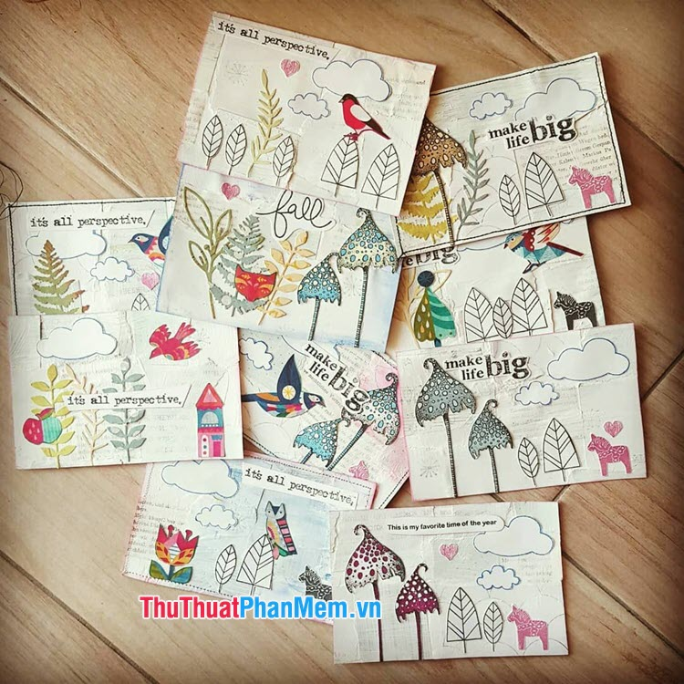 Postcard tự làm (handmade, DIY)