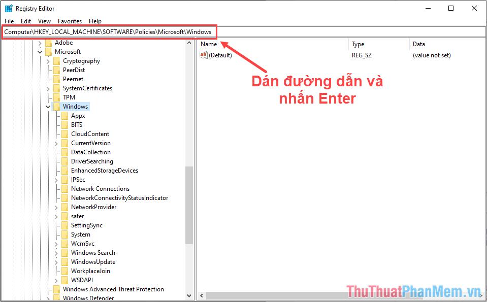 Truy cập thư mục Windows theo đường dẫn