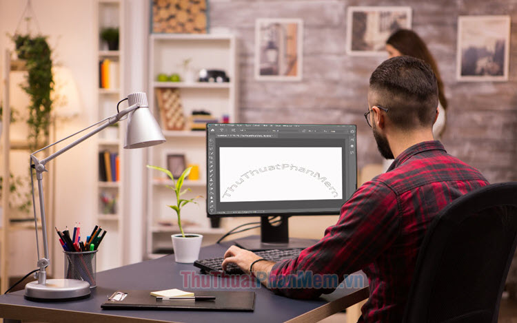 Cách tạo chữ cong, uốn lượn trong Photoshop