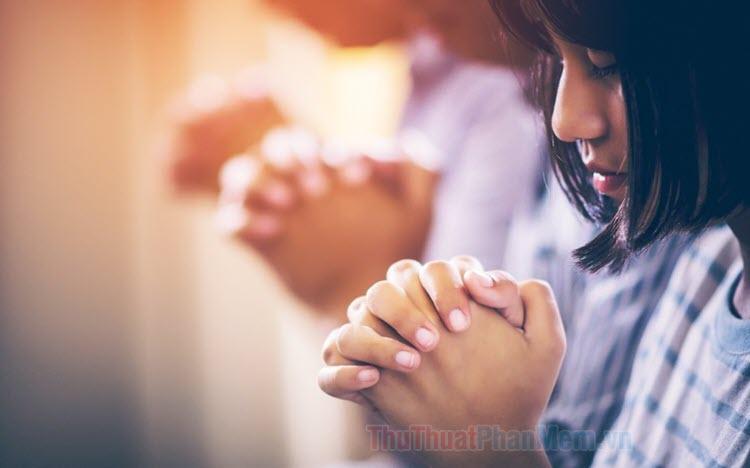 Ảnh cầu nguyện – Hình ảnh cầu bình an đẹp