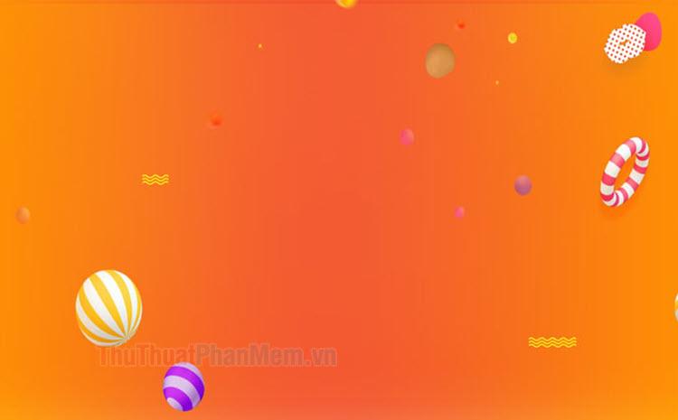 Background màu cam