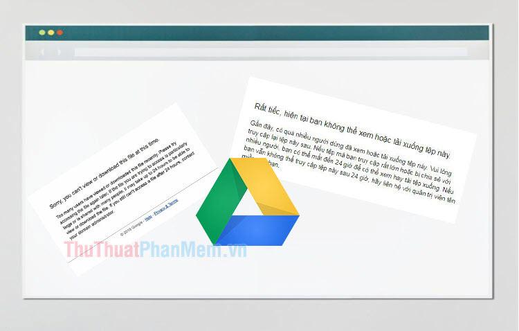 Cách tải file trên Google Drive bị giới hạn lượt tải