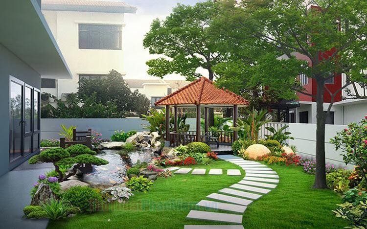 Hình ảnh sân vườn đẹp