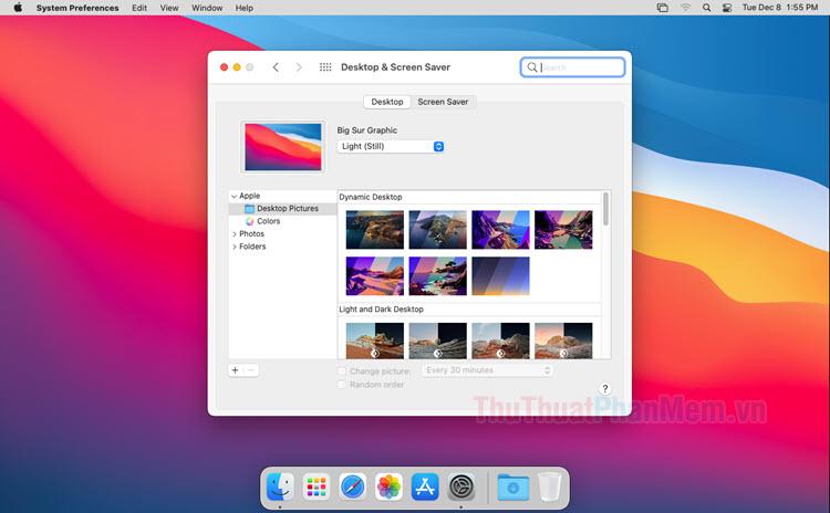 Thư mục hình nền mặc định trên macOS