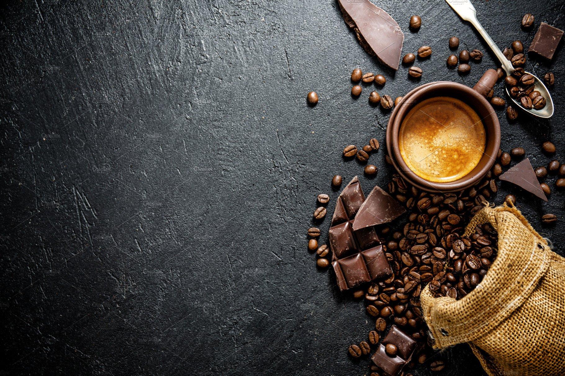 Background cà phê chuyên nghiệp