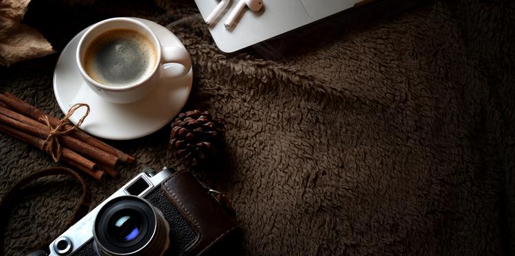 Background cà phê đen