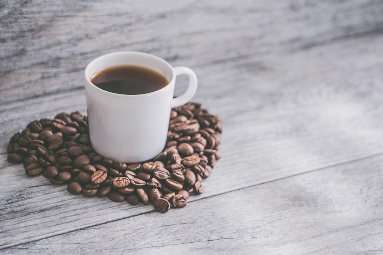 Background cốc cà phê có hạt đẹp