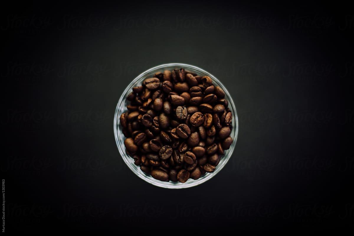 Background hạt cà phê rang đẹp