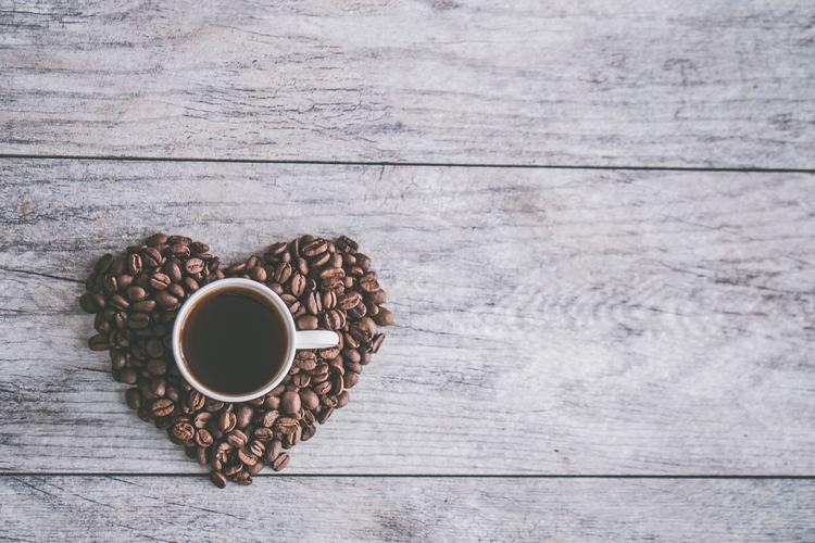 Background tình yêu cà phê
