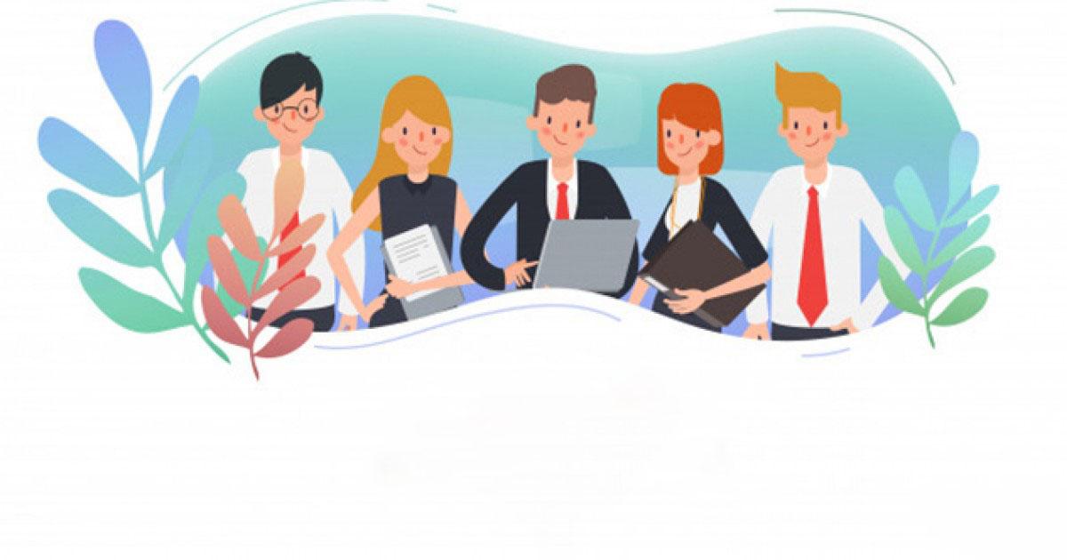 Background tuyển dụng nhân viên văn phòng