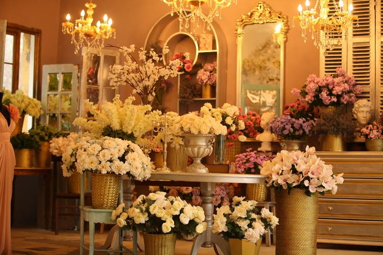 Background vườn hoa ghép ảnh gia đình