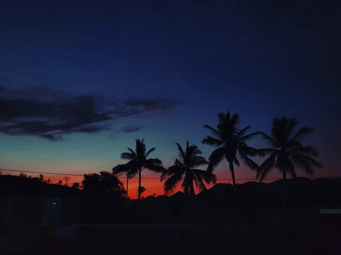 Hình ảnh bầu trời đẹp về tối