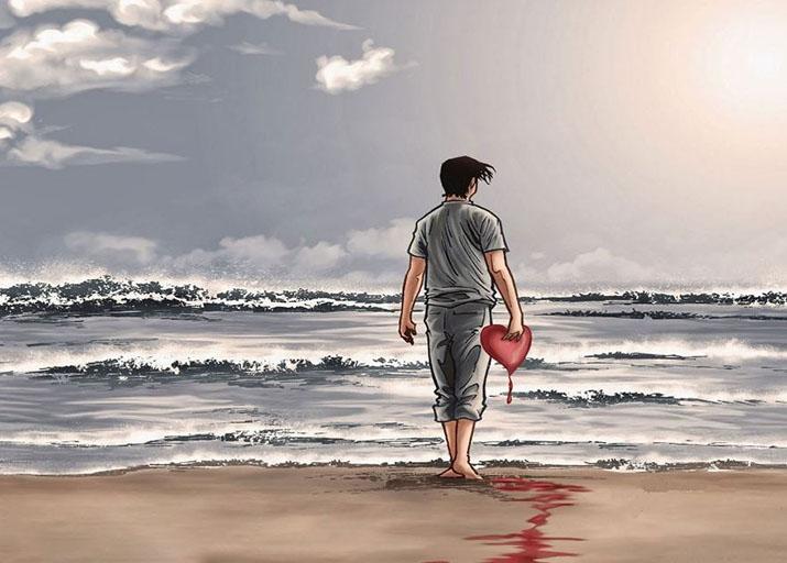 Hình ảnh đau khổ trái tim