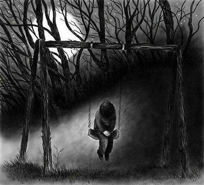 Hình ảnh đau khổ u tối