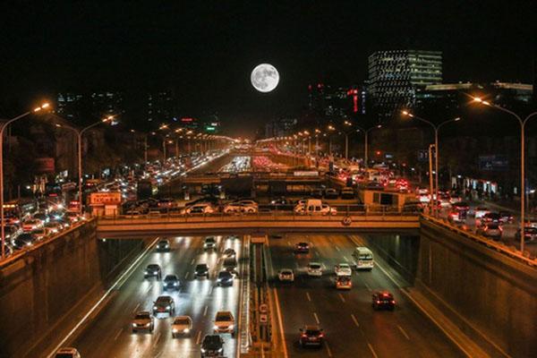 Hình ảnh đường phố buổi tối