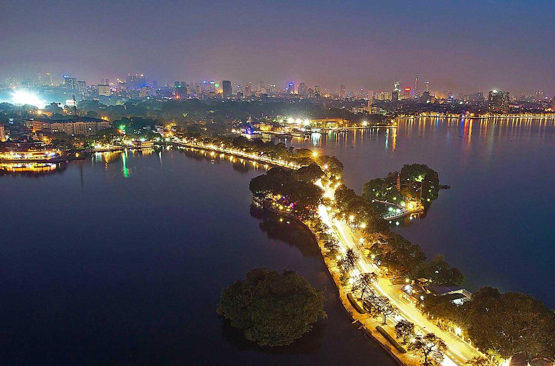 Hình ảnh Hà Nội buổi tối đẹp