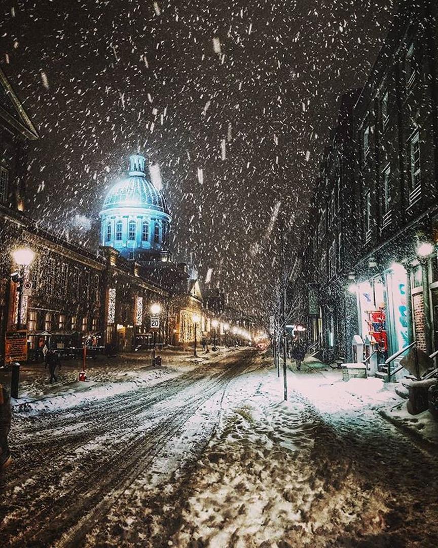 Hình ảnh mùa đông buổi tối