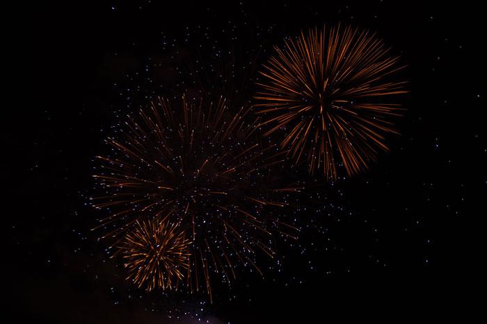 Hình ảnh pháo hoa buổi tối