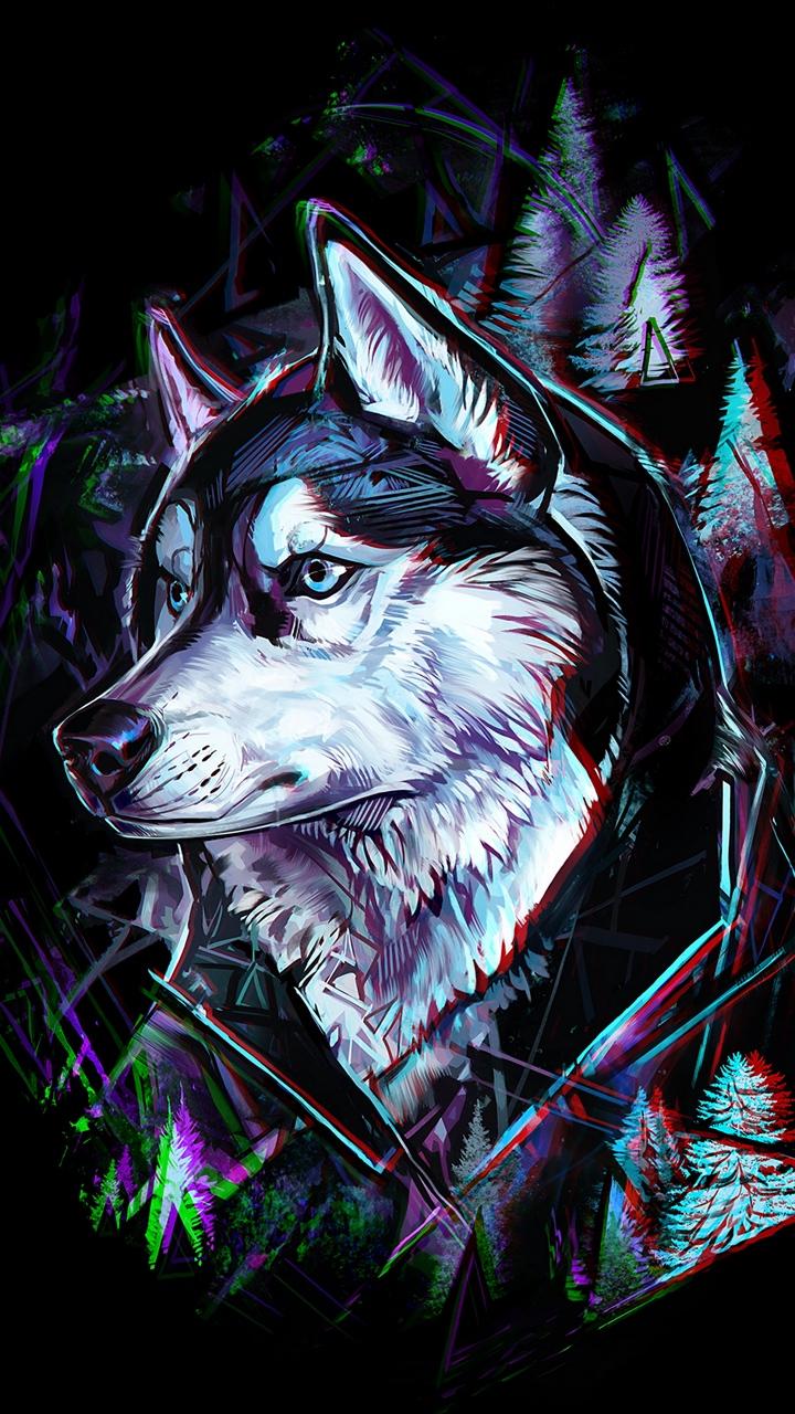 Hình ảnh sói 3D đẹp