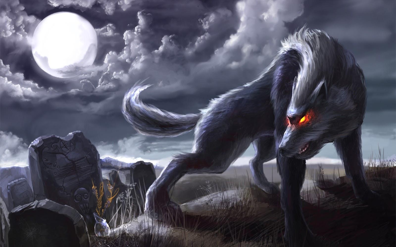 Hình ảnh sói đen