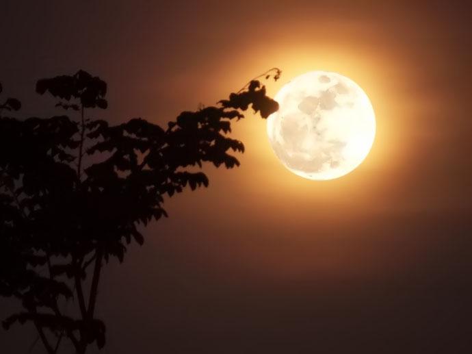Hình ảnh trăng đẹp buổi tối