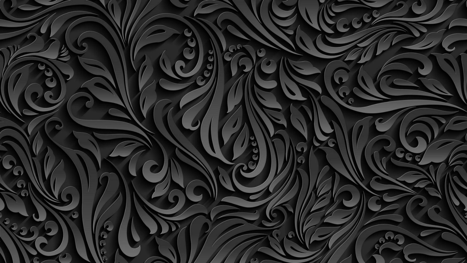 Hình nền đen hoạ tiết