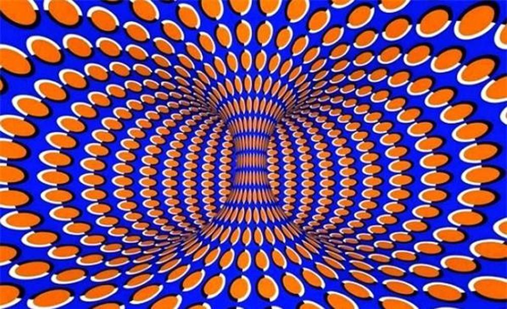 Ảnh ảo giác 3D xoáy tròn