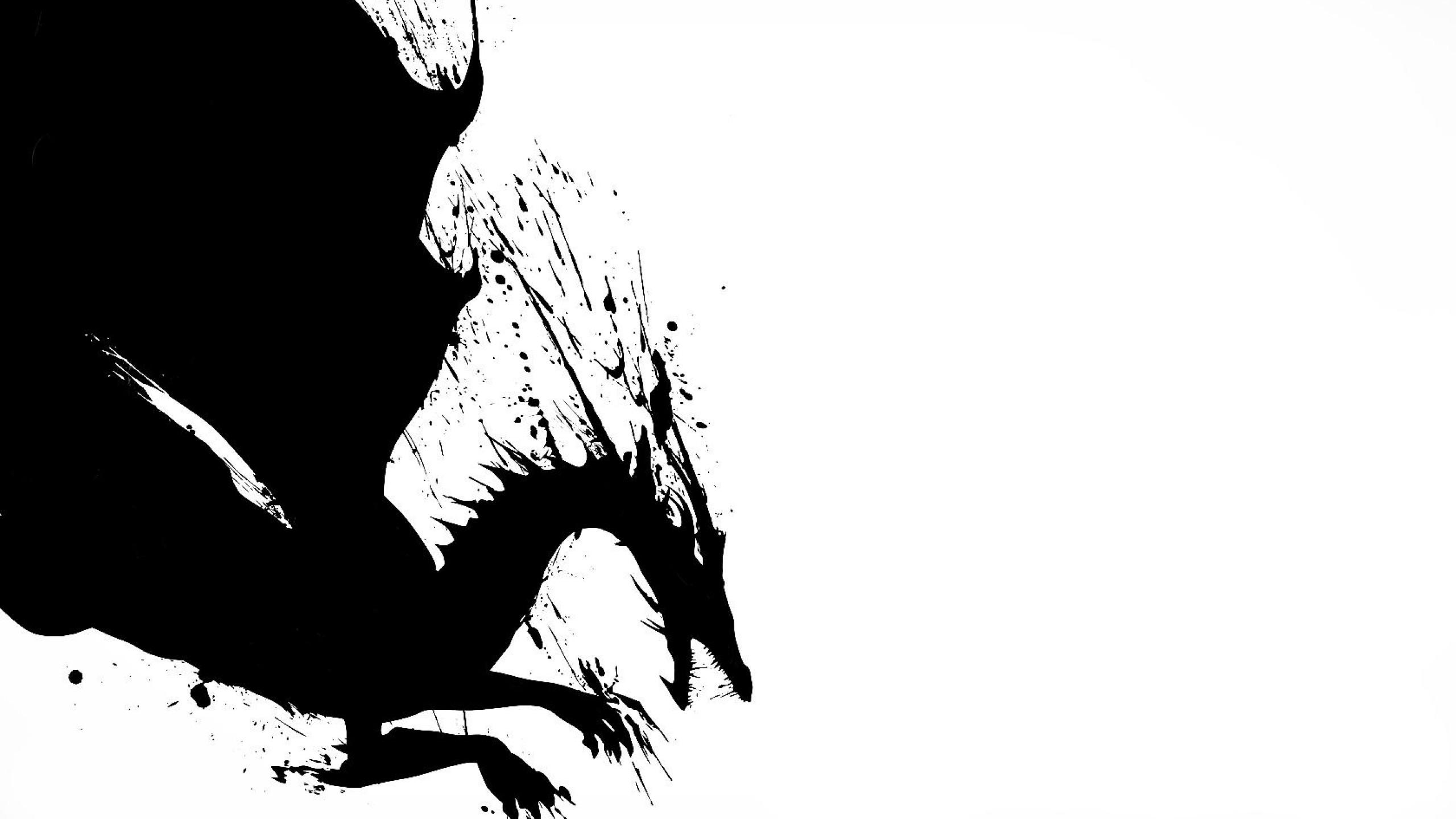Ảnh nền rồng trắng đen
