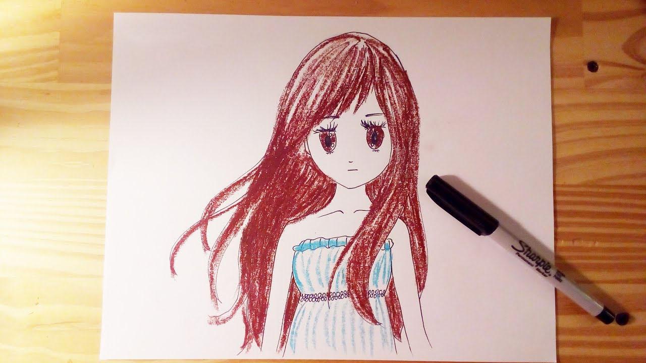 Ảnh vẽ anime đơn giản