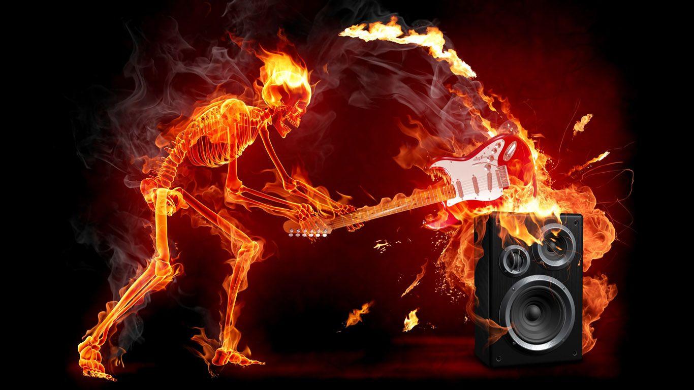 Hình ảnh âm nhạc bốc lửa