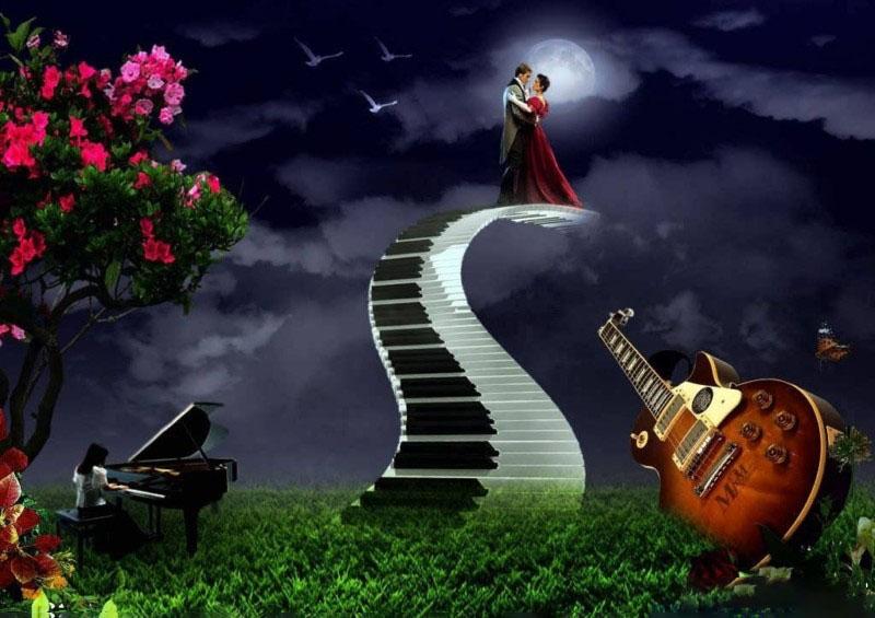 Hình ảnh âm nhạc lãng mạn