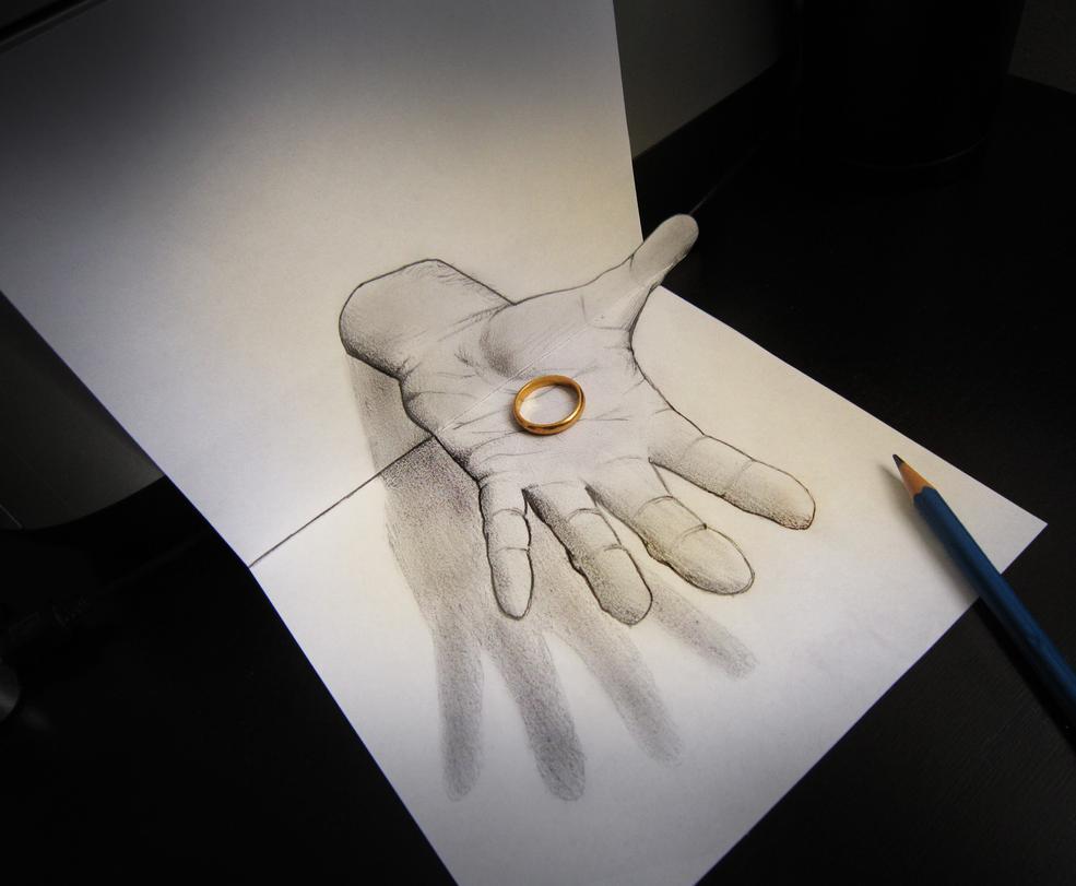 Hình ảnh ảo giác 3D bàn tay