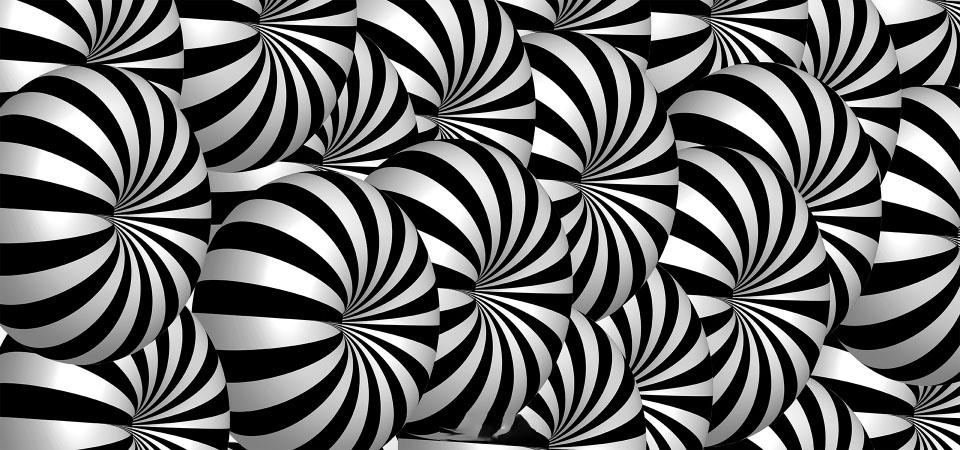 Hình ảnh ảo giác 3D đen và trắng