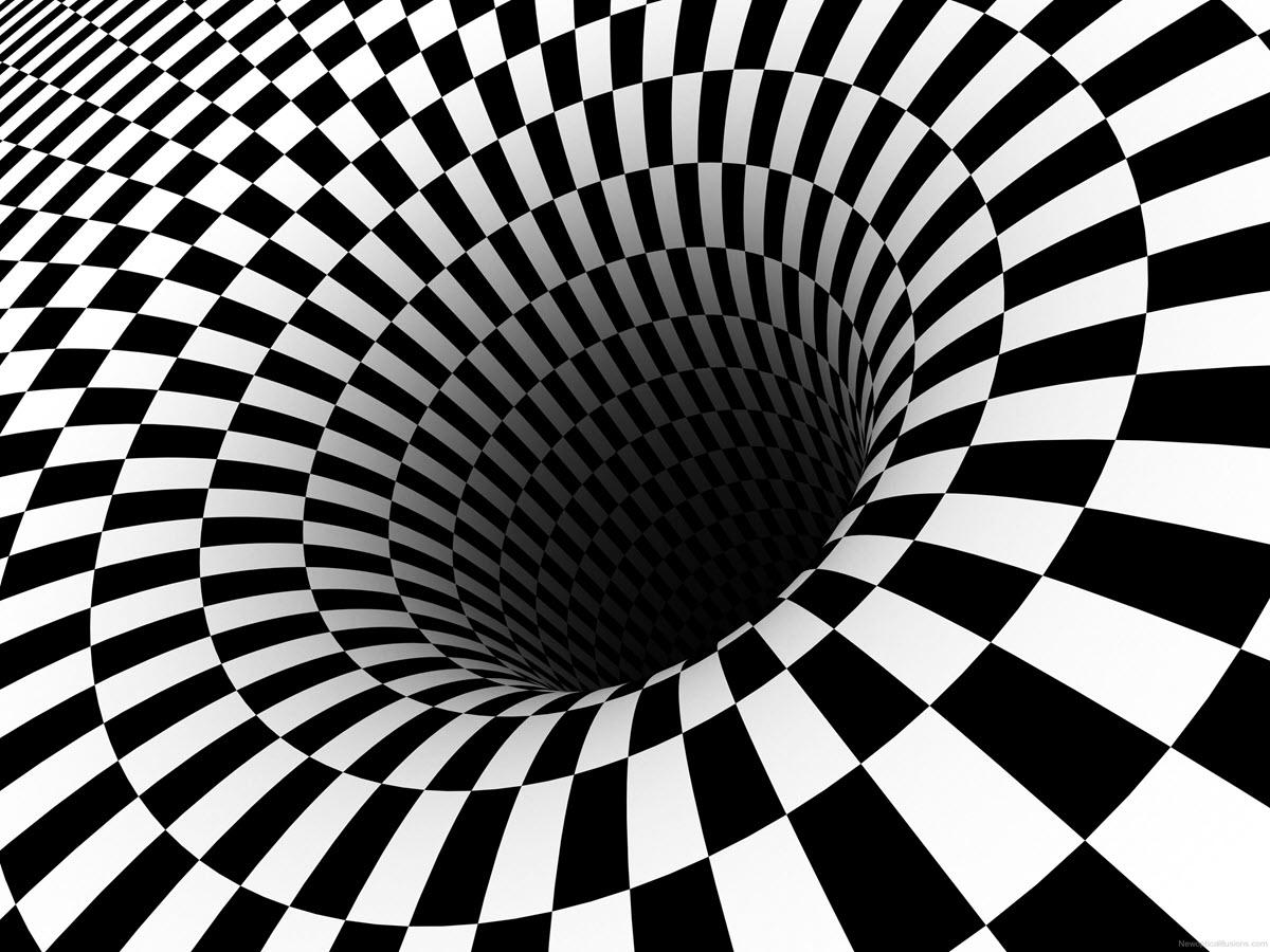 Hình ảnh ảo giác 3D hố đen