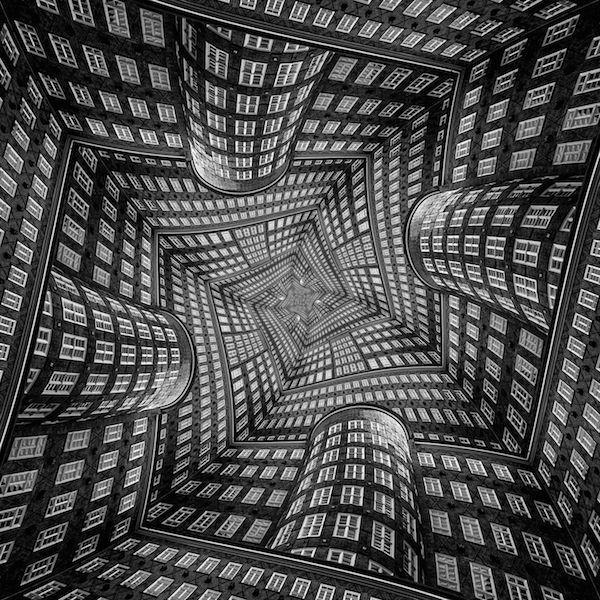 Hình ảnh ảo giác 3D toà nhà