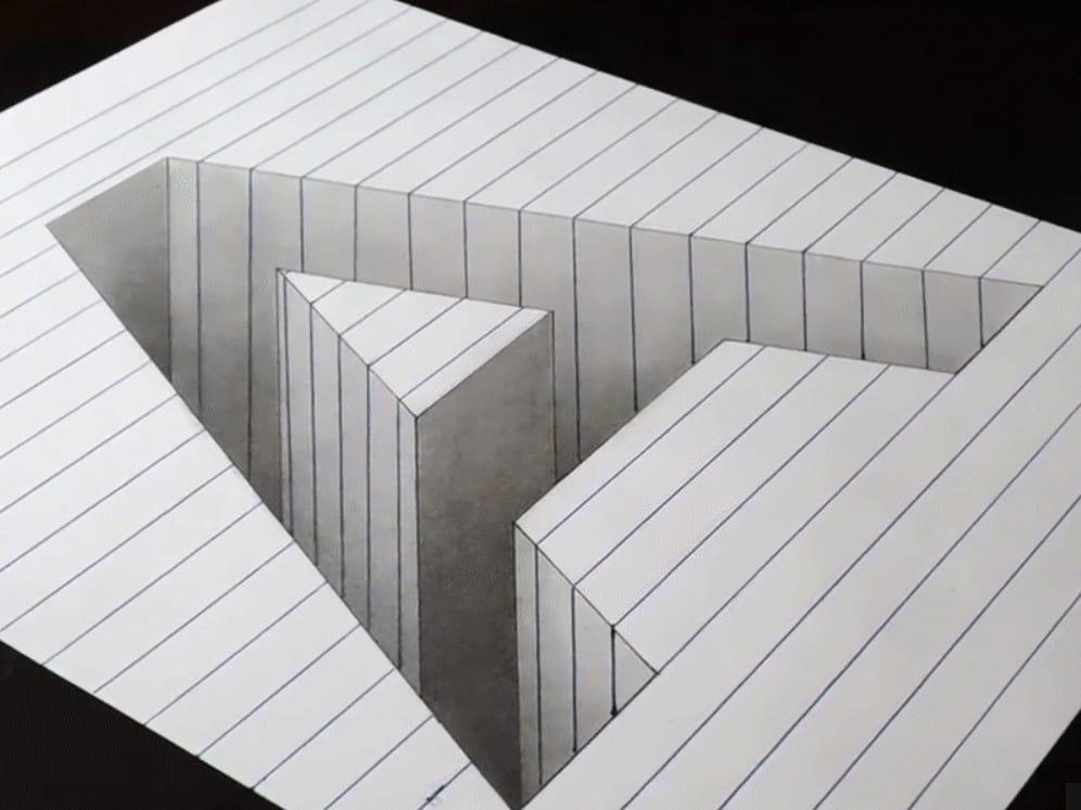 Hình ảnh chữ A ảo giác 3D